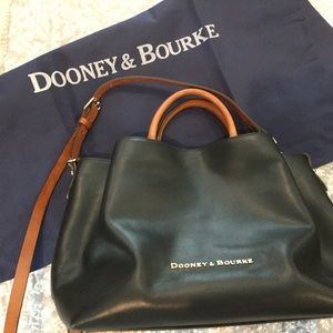 Rooney and Bourke black purse with brown accents